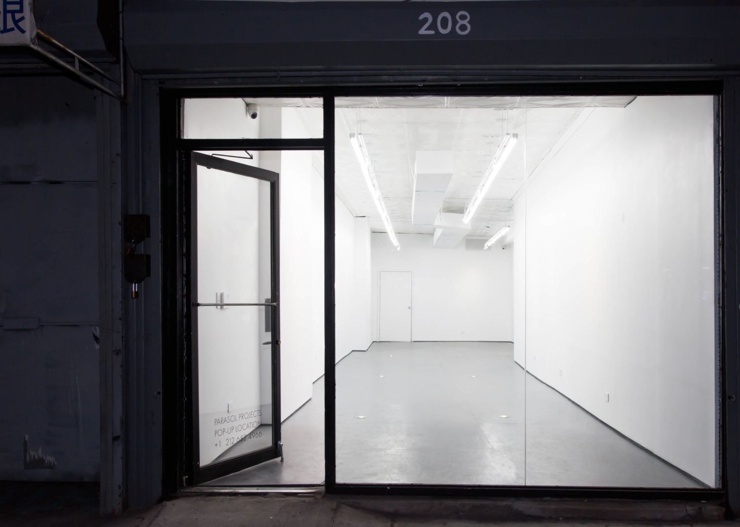 208 Bowery pop up space and temporary location